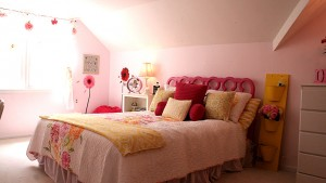pink and yellow girls bedroom #yourhomeonlybetter