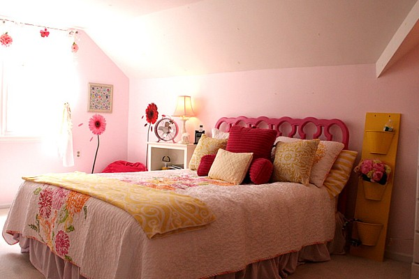 pink and yellow bedroom 16698 | feature1 600x400