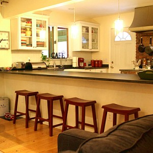 room transitions - kitchen, family room, sun porch #yourhomeonlybetter