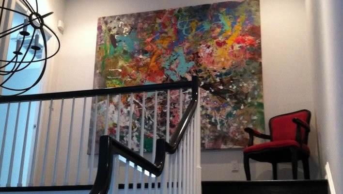 Three ways to use large art @yourhomeonlybetter