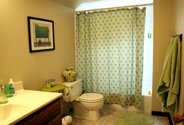 How to Fake a Bathroom Renovation #interior design #yourhomeonlybetter #diy