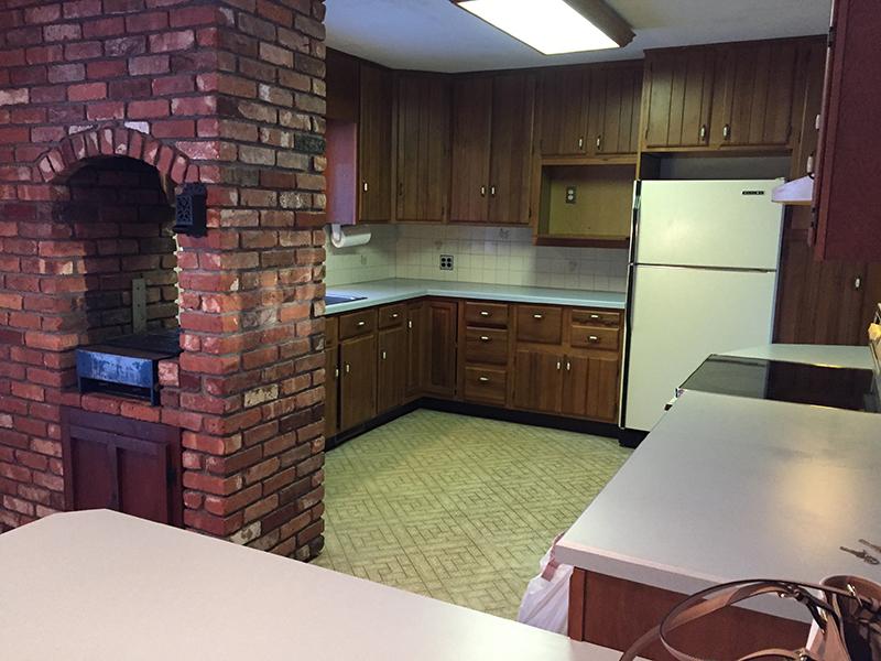 kitchen renovation - before shot