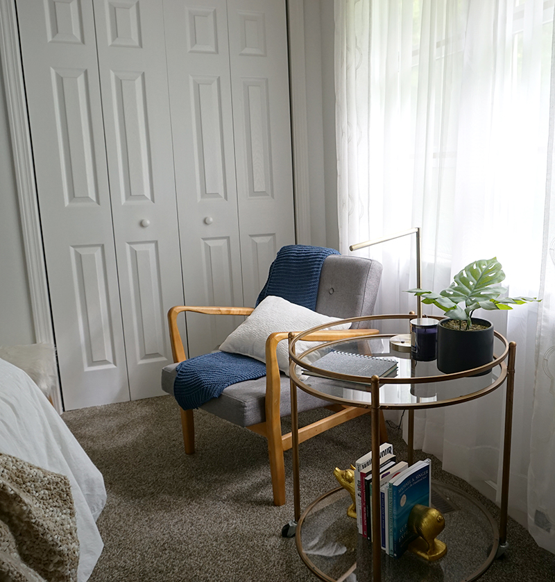 reading corner in a bedroom