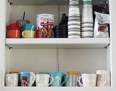 coffee bar accessories shelf