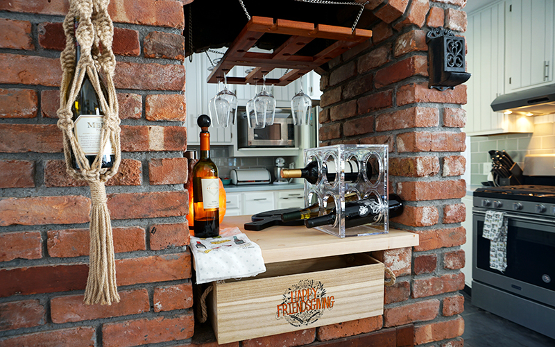DIY Home Wine Bar Repurpose