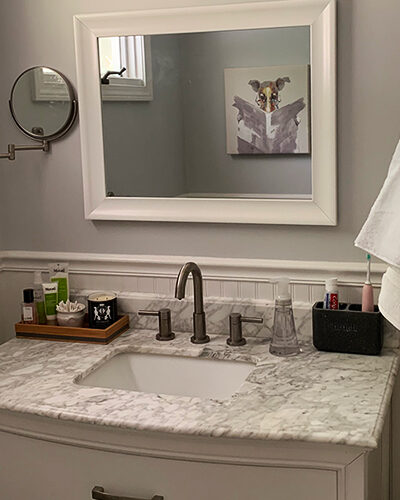 A Small Bathroom Makeover that Works Hard